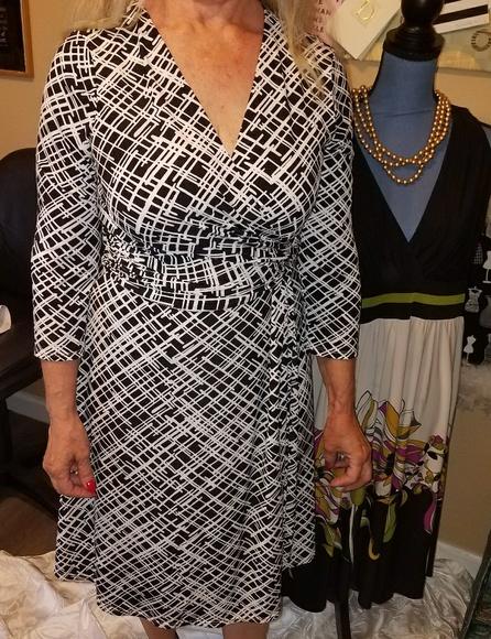 White House Black Market Dresses & Skirts - Black and white Dress